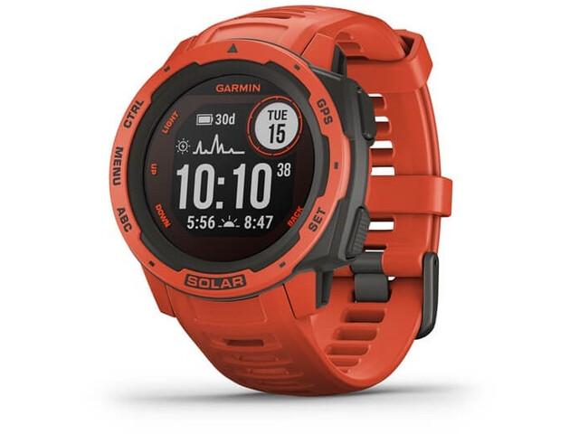 Garmin Instinct Solar GPS Smartwatch, rojo